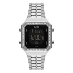 Relógio Euro Prateado Digital