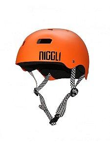 Capacete Niggli Pads Iron Profissional - Laranja Fosco