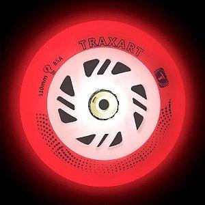 3 Rodas Traxart Inline com LED 110mm / 85A - Led Vermelho