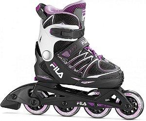 Patins Fila Skates Infantil X-One Girl - Ajustável