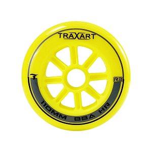 Rodas Traxart R3 110mm/88a Para patins Inline - High Rebound Amarela  (jogo com 3)