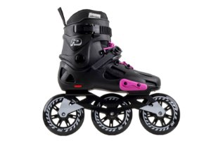 Patins HD Inline Evolution Black/Pink Urban Freestyle rodas 110mm