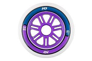 6 Rodas HD Inline Fun Purple/Blue 110mm 85a