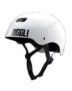 Capacete Niggli Pads Iron Pro Light - Branco
