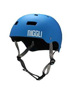 Capacete Niggli Pads  Iron Profissional - Azul Fosco