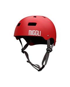 Capacete Niggli Pads Iron Profissional - Vermelho Fosco