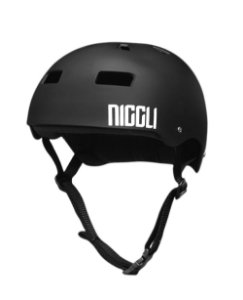Capacete Niggli Pads Iron Profissional - Preto Fosco fita preta