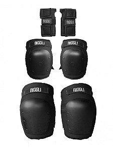 Kit De Proteção Completo Niggli Pads tamanho M - Juvenil 8 a 14 anos