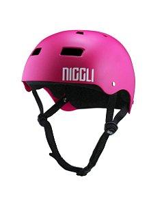 Capacete Niggli Pads Iron Profissional - Magenta Fosco