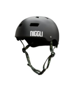 Capacete Niggli Pads Iron Profissional - Preto Fosco Fita Camuflada