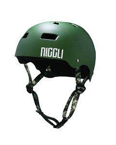 Capacete Niggli Pads Iron Profissional - Verde Fosco