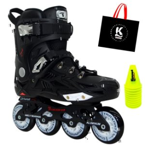 Combo: Patins Dynamix + cones + ecobag