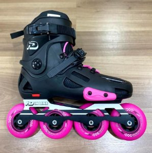 Patins HD Inline Evolution Preto 80mm / Custom Pink