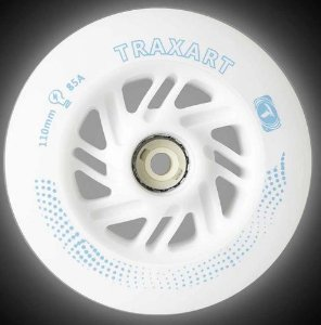3 Rodas Traxart Inline com LED 110mm/85A - Branco