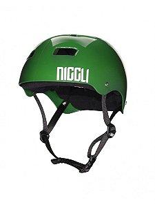 Capacete Niggli Pads Iron Profissional - Verde Brilho fita preta