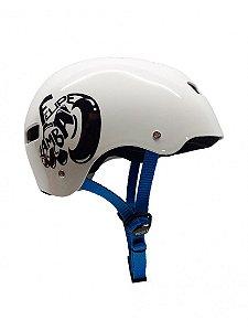Capacete Niggli Pads Iron Profissional - Felipe Zamba Pro Model Light Branco
