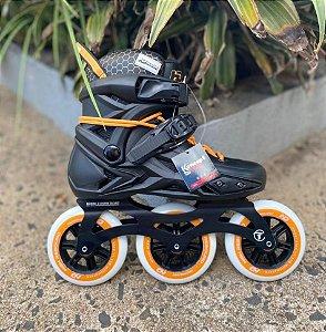 Patins Hd inline Serie X - custom laranja