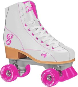 Patins Quad Roller Derby Sabina Candy Girl - Branco / rosa