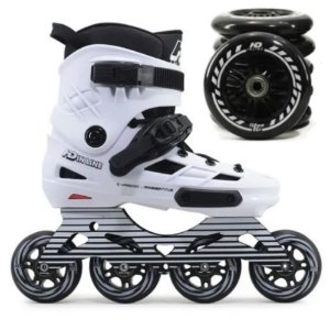 Combo: Patins HD inline Skull Base Hibrida 80mm e 110mm (85a)