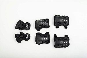 Kit de Proteção HD Inline Infantil - Preto