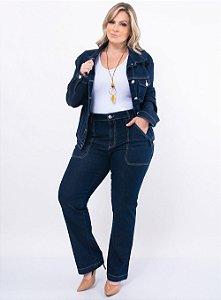 Jaqueta Jeans Stone Plus Size