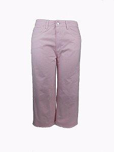 Calça Pantacourt Rosa Plus Size