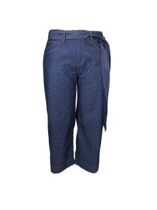 Calça Pantacourt Jeans Plus Size com Cinto