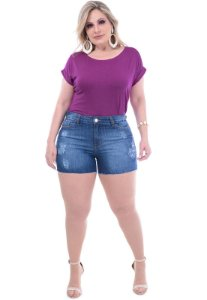Shorts Jeans Plus Size Stone