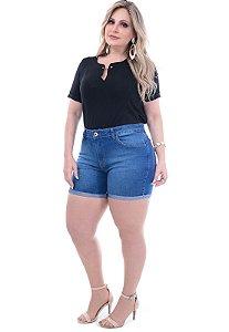 Shorts Jeans Básico Plus Size