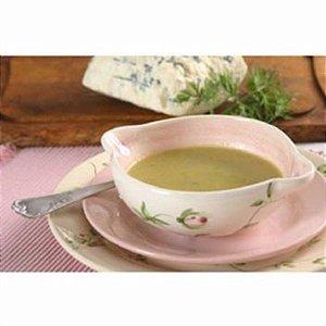 Sopa de abobrinha com gorgonzola