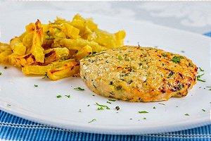 Hamburguer de frango com batata doce