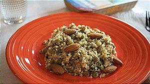 Cuscuz de quinoa e lentilha