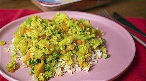 Legumes ao leite de coco com castanha de caju