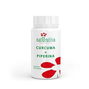 Curcuma  500 mg + Piperina 5 mg - Imunidade Blindada - 60 caps