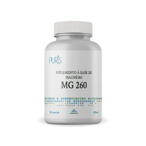 MG 260 - Suplemento a base de Magnesio 650mg 120 capsulas Puris