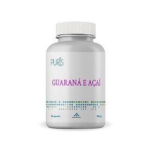 Guaraná e Açaí 550 mg 60 cápsulas Puris