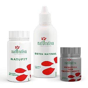 Kit Emagrecedor ( Detox Matinal+ Natu Fit+ Probiótico Emagrecedor)
