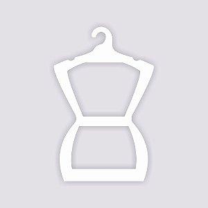 Cabide Silhueta Adulto / Capa Branca / CS109