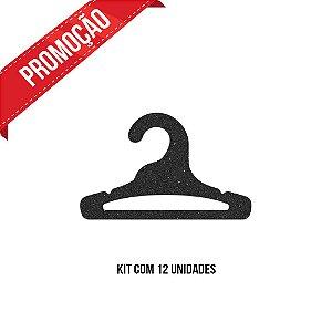 *Leve 12 Pague 10 - Kit Cabide Infantil Aberto / Preto H / CS 101