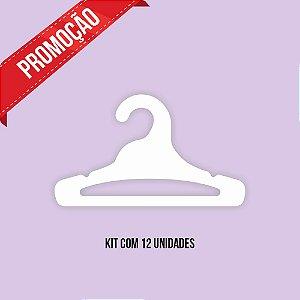* Leve 12 Pague 10 - Kit Cabide Juvenil Aberto / Capa Branca / CS103