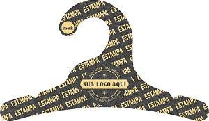 Cabide Personalizado com sua logo / Infantil / Preto H / CS100
