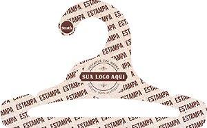 Cabide Personalizado com sua logo / Infantil Aberto / Natural / CS101