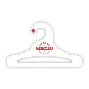 Cabides Personalizado com sua logo / Juvenil Aberto / Capa Branca / CS103
