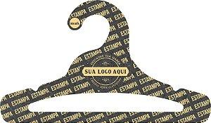 Cabide Personalizado com sua logo / Juvenil Aberto / Preto H / CS103