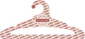 Cabide Personalizado com sua logo / Adulto Aberto / Natural / CS105