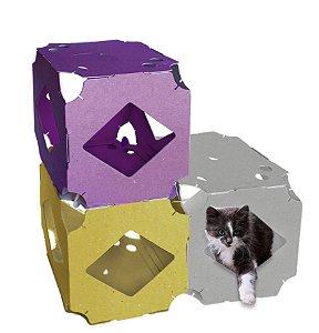 PlayPet - Trio de Brinquedo Modular para gatos