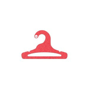 Cabide Infantil Aberto - Color Face  - Vermelho - CS101
