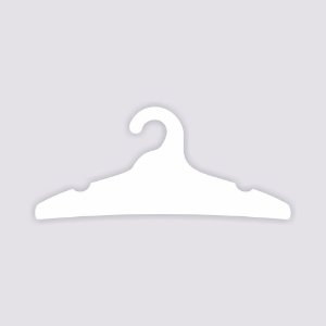 Cabide Adulto - Capa Branca - CS104