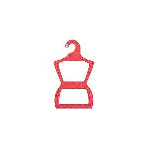 Cabide Silhueta Bebê - Color Face - Vermelho - CS106