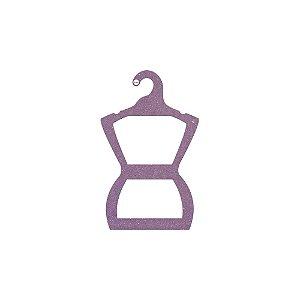 Cabide Silhueta Infantil - Color Face - Lilás - CS107